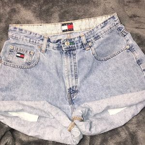 Vintage Tommy Hilfiger High Rose Jean Shorts